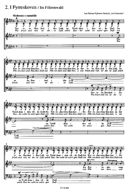 Peterson-Berger: 8 Sanger