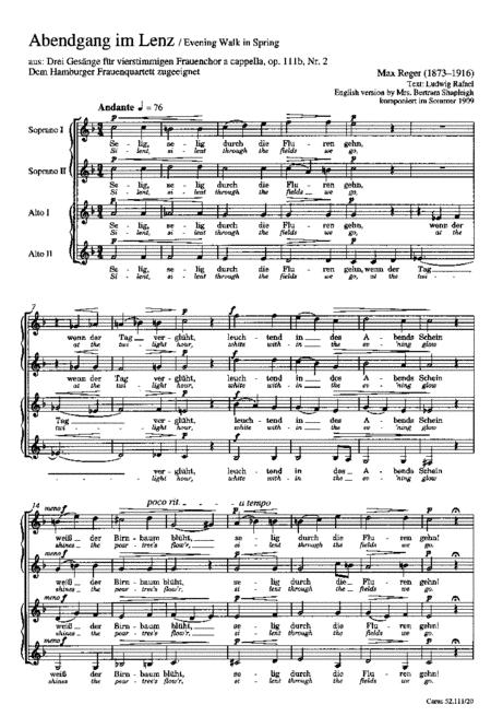 Drei Gesange fur Frauenchor