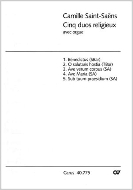 Saint-Saens: Funf Duette mit Orgel