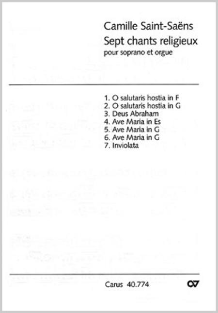 Saint-Saens: Sieben geistliche Stucke fur Sopran und Orgel