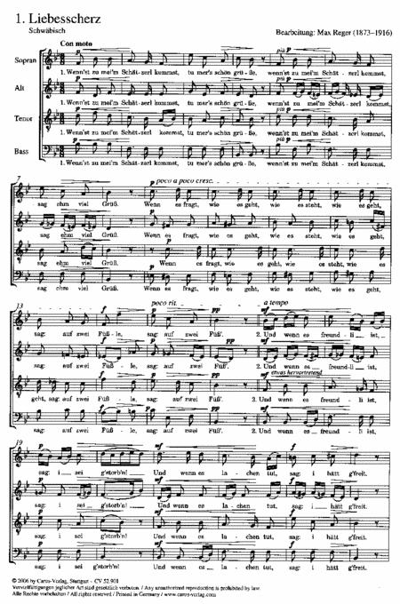Sechs ausgewahlte Volkslieder