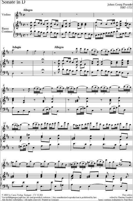 Sonate in D