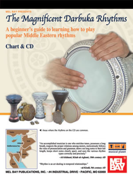 Magnificent Darbuka Rhythms Chart and CD