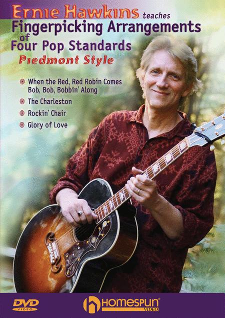 Ernie Hawkins Teaches Fingerpicking Arrangements of Four Pop Standards - Piedmont Style