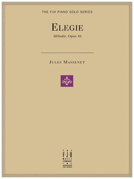 Elegie, Melodie, Op. 10