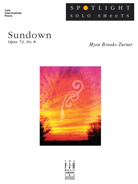 Sundown, Op. 72, No. 8