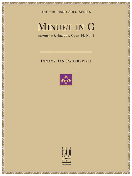 Minuet in G (Menuet a L'Antique, Op. 14, No. 1)