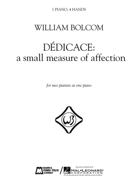 Dedicace - A Small Measure of Affection