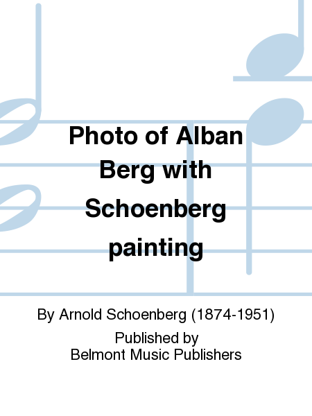 Photo of Alban Berg with Schoenberg painting