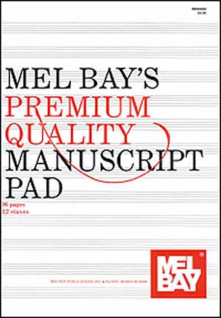 Premium Quality Manuscript Pad 12-Stave