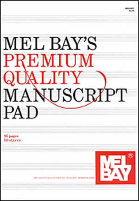 Premium Quality Manuscript Pad Ten-Stave