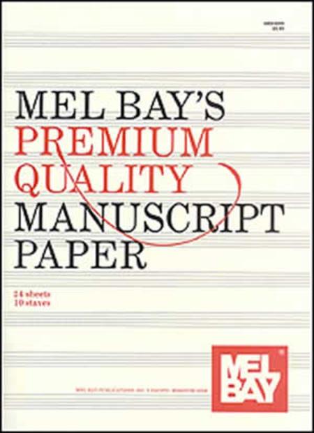 Premium Quality Manuscript Paper Ten-Stave Quire (24)