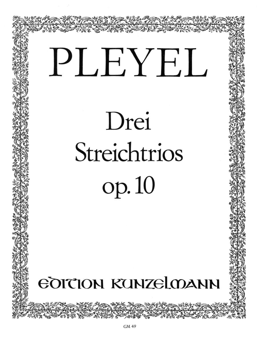 3 Concertante Trios Op.10
