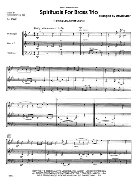 Spirituals For Brass Trio
