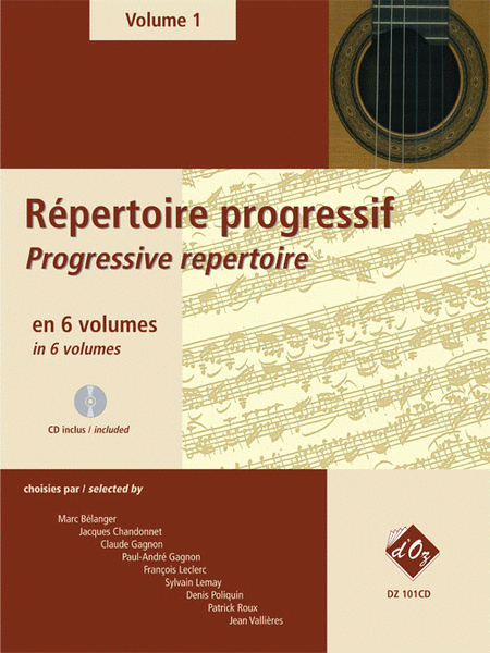 Repertoire progressif pour la guitare, Volume 1 (CD included)