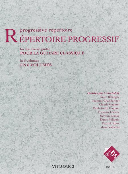 Repertoire progressif pour la guitare, Volume 2