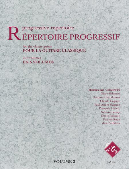 Repertoire progressif pour la guitare, Volume 3