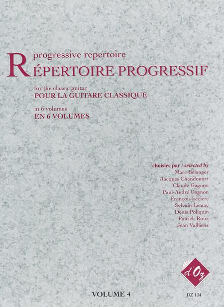 Repertoire progressif pour la guitare, Volume 4