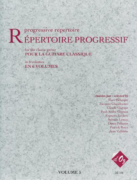 Repertoire progressif pour la guitare, Volume 5
