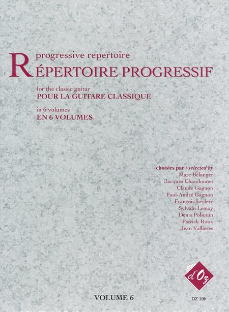 Repertoire progressif pour la guitare, Volume 6