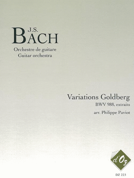 Variations Goldberg, BWV 988 (extraits)