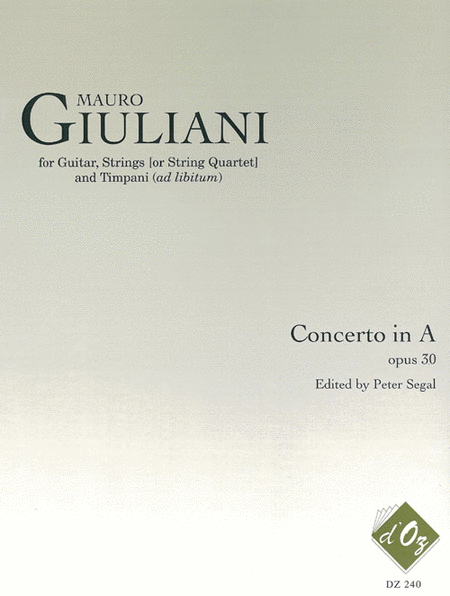 Concerto for Guitar, Strings and Timpani, opus 30 - 2 cahiers