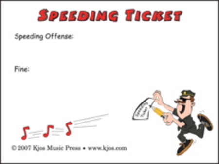 Speeding Ticket Post-it Notes