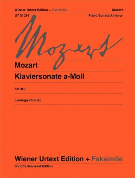 Piano Sonata in A Minor, K 310 (300d)