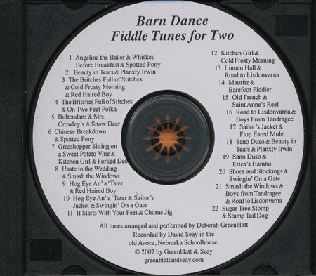 Barn Dance Fiddle Tunes for Two Violins CD