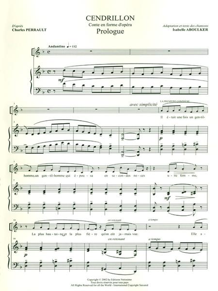 Cendrillon Conte Musical - Chant et Piano