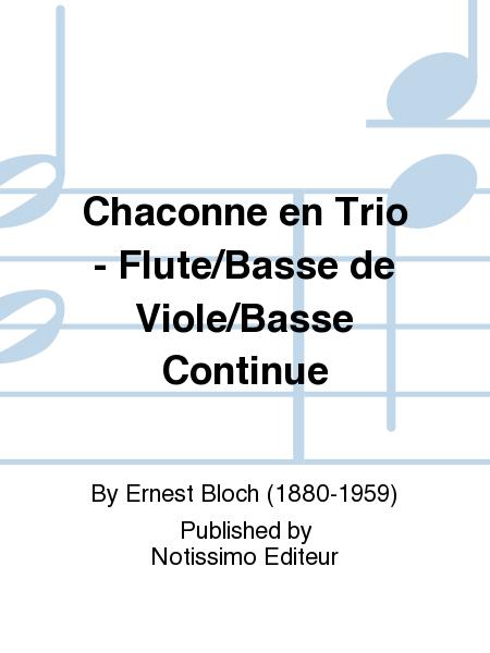 Chaconne en Trio - Flute/Basse de Viole/Basse Continue