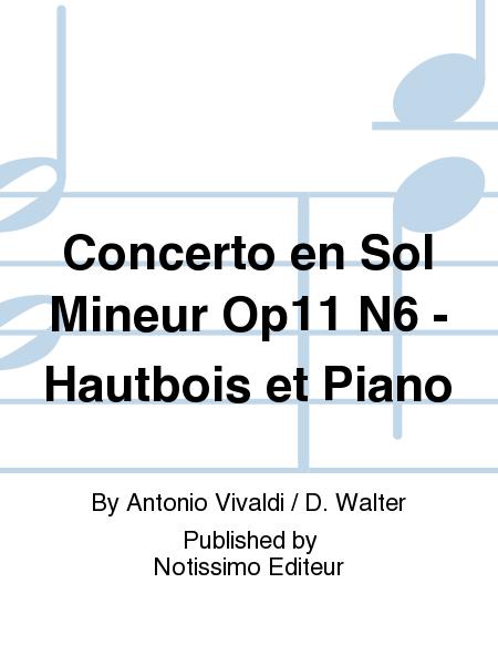 Concerto en Sol Mineur Op11 N6 - Hautbois et Piano