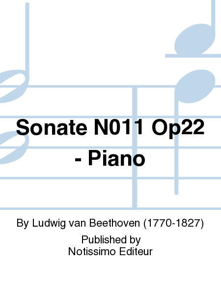 Sonate No.11 Op22 - Piano
