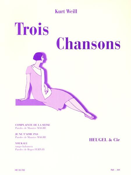 3 Chansons - Chant et Piano