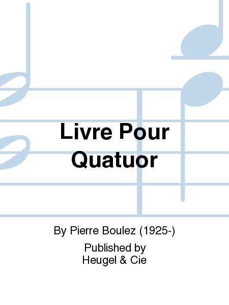 Livre pour Quatuor