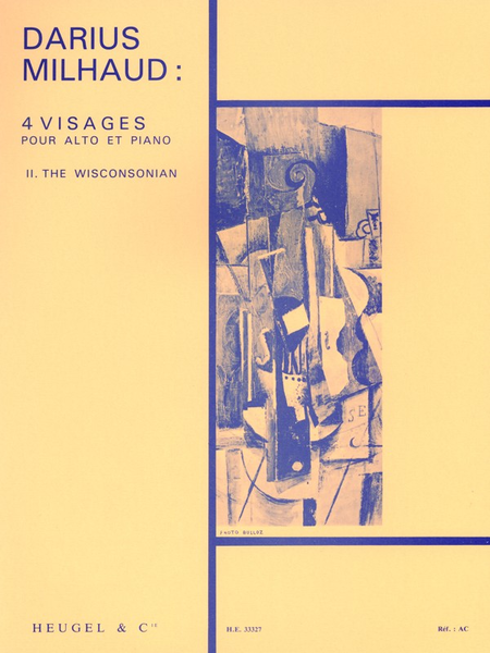 4 Visages: No.2 The Wisconsonian - Alto et Piano