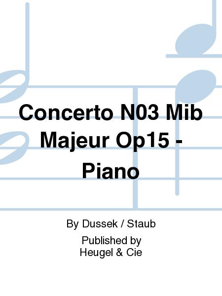 Concerto No.3 Mib Majeur Op15 - Piano