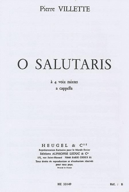 O Salutaris - 4 Voix Mixtes A Cappella