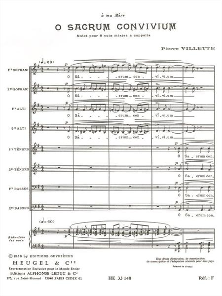 O Sacrum Convivium - 8 Voix Mixtes a Cappella