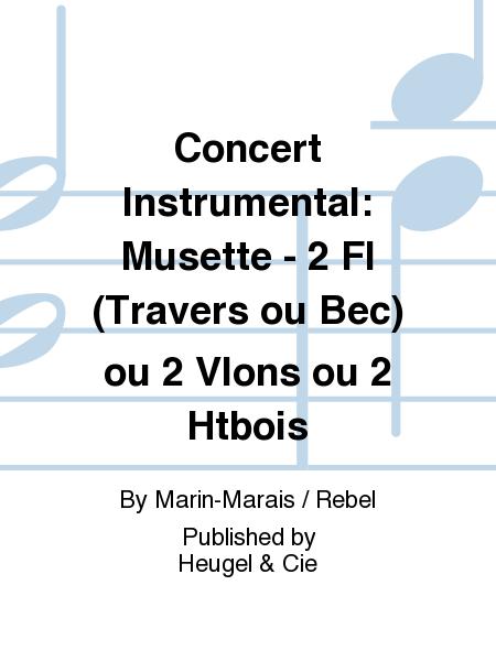 Concert Instrumental: Musette - 2 Fl (Travers ou Bec) ou 2 Vlons ou 2 Htbois