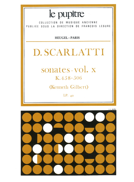 Oeuvres Completes Pour Clavier - Volume 10 Sonates K458 a K506