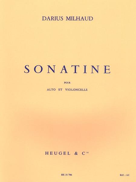 Sonatine - Alto et Violoncelle