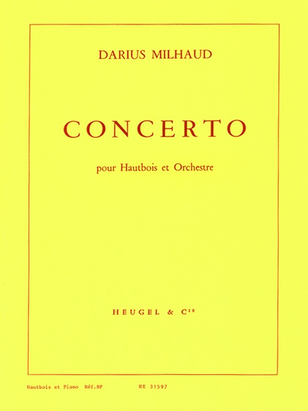 Concerto - Hautbois Et Piano