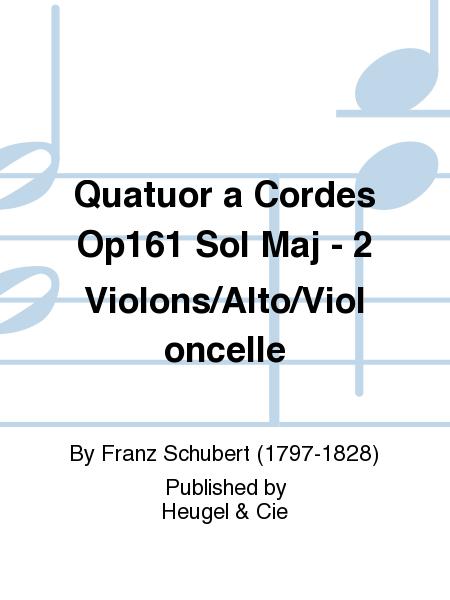 Quatuor a Cordes Op161 Sol Maj - 2 Violons/Alto/Violoncelle