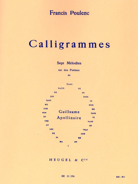 Calligrammes - Voix Moyenne Et Piano