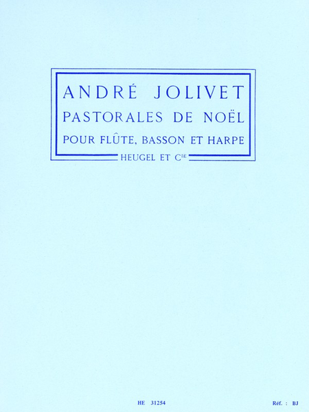 Pastorales de Noel - Flute/Basson/Harpe