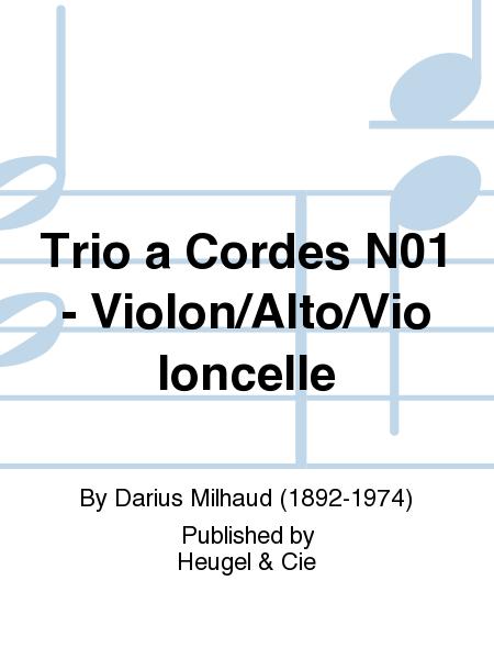 Trio a Cordes No.1 - Violon/Alto/Violoncelle