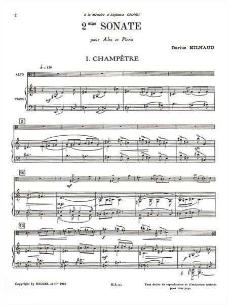 Sonate No.2 - Alto et Piano