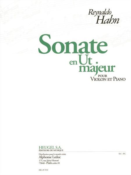 Sonate En Ut Majeur - Violon Et Piano