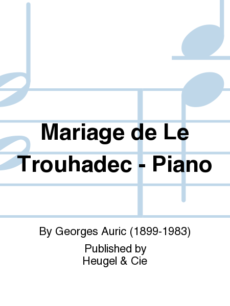 Mariage de Le Trouhadec - Piano